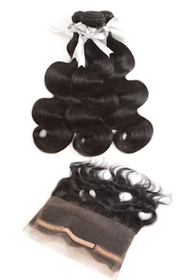 3 BUNDLES VIRGIN BODY WAVE WITH 360 LACE FRONTAL-NATURAL COLOR