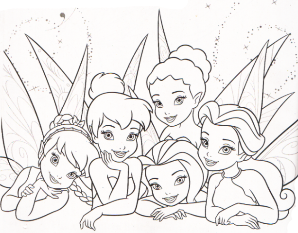 Hadas animadas de Disney para colorear