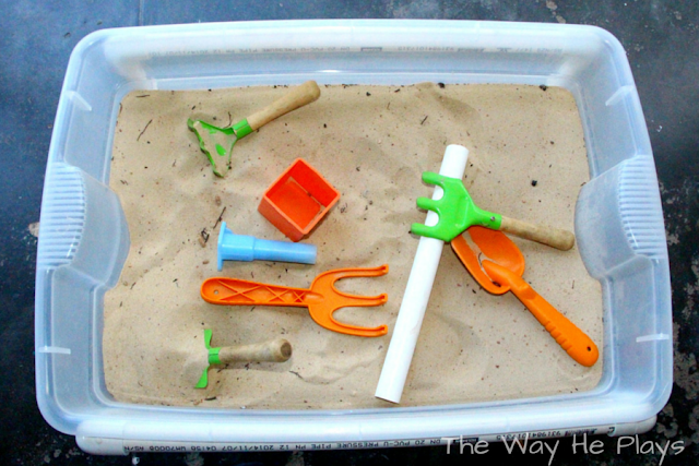 Homemade Sensory Table with simple instructions