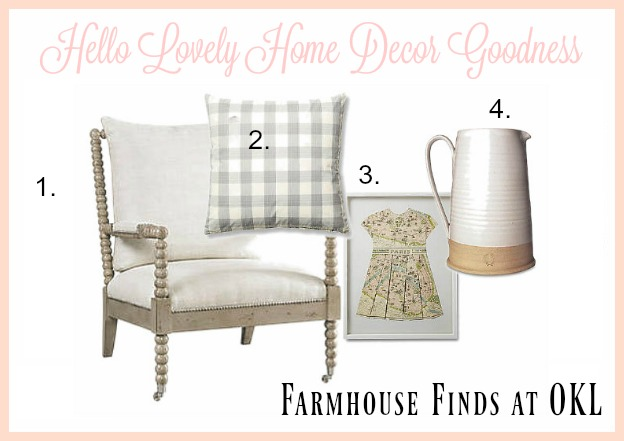 Farmhouse style home decor from One King's Lane on Hello Lovely Studio
