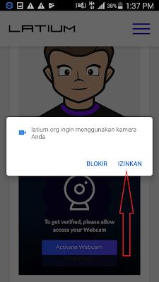 cara melakukan verifikasi wajah di situs latium