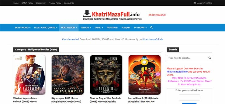 best website for download hollywood movies in dual audio