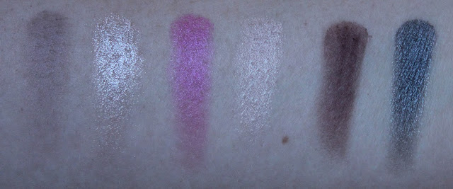 Swatches op arm van Filling, Sweet, Pink, Candy, Melts en Smooth