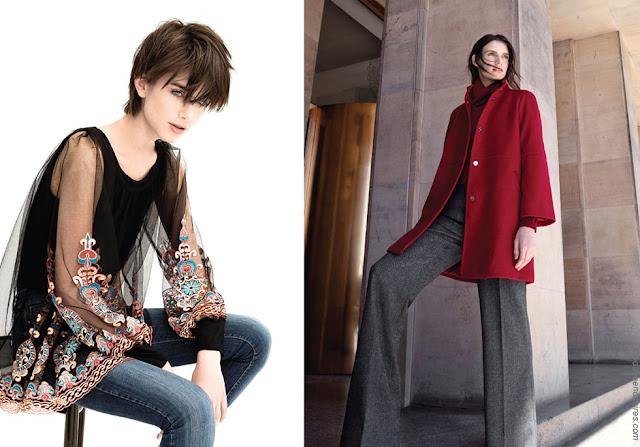 Tapados otoño invierno 2018 ropa de mujer. Blusas de moda invierno 2018. Moda invierno 2018 mujer.