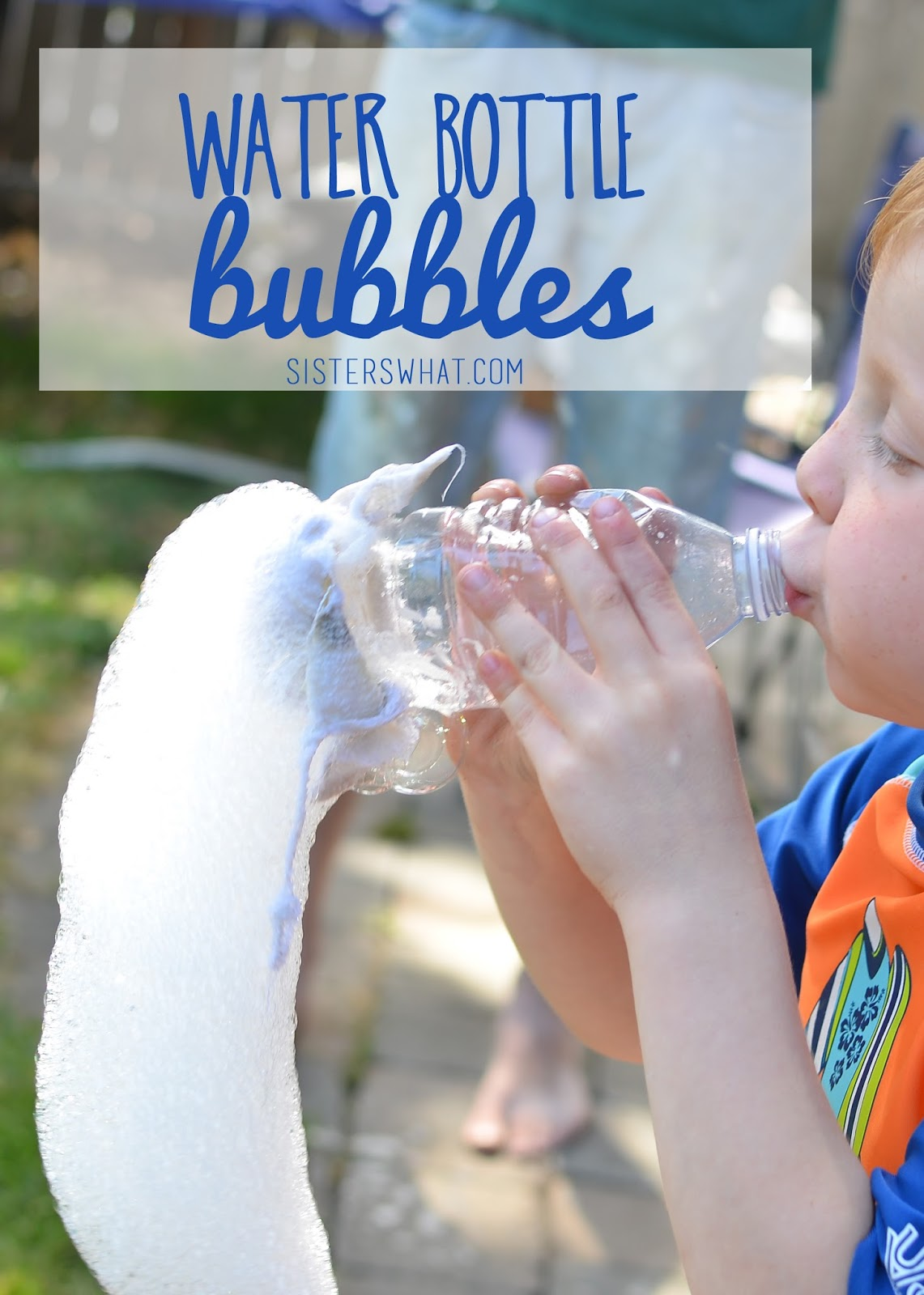 Water bottle Bubble summer fun kid activity