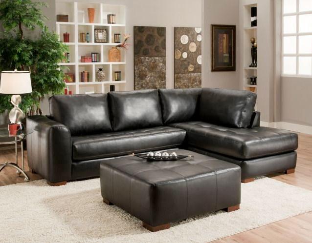 Sofa Kulit Minimalis Modern Untuk Ruang Tamu Kecil