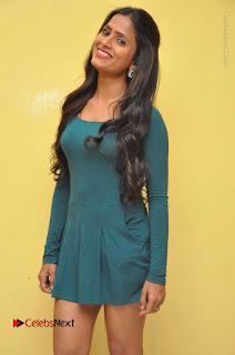 Telugu Actress Prasanthi Stills in Green Short Dress at Swachh Hyderabad Cricket Press Meet  0050.JPG