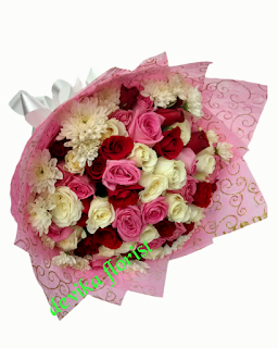 buket bunga mawar jogja