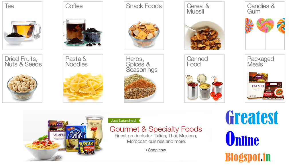 Gourmet & Speciality Foods India - Pasta & Noodles, Spices & Seasonings, Dried Fruits & Nuts, Coffee, Tea & Beverages, Candies & Gums, Snack Foods