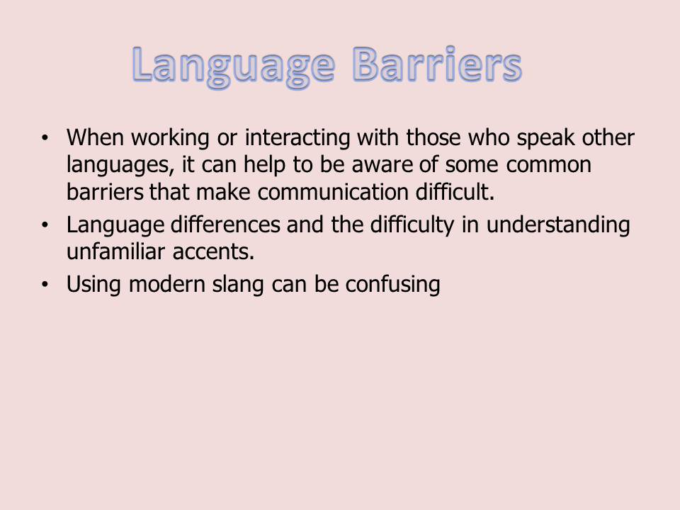 Communication barriers in the workplace Custom paper Example