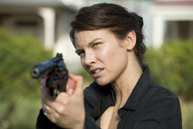 Lauren Cohan como Maggie Greene – The Walking Dead _ sexta temporada, Episode 2 – Photo Credit: Gene Page/AMC