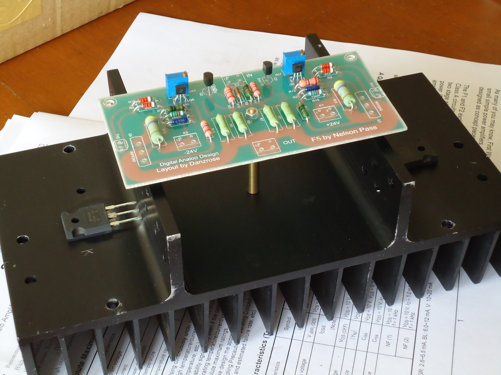 Diy Heatsink Amplifier Alephx 100w Construction Notes The Surface Of Need To Be Clean Before Installing Fet On It Doing This Will