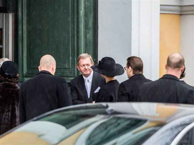 Swedish Royal Family attended the funeral of Swedish industrialist Peter Wallenberg in the Katarina Church