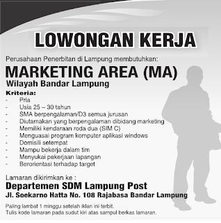 Lowongan Pekerjaan Blasting Bandar Lampung 2013 Cerita Sex Pembantu Pembantu Hot Seks Lowongan Marketing Area Lampung Post Terbaru 2013