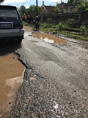 Masyarakat Simpang NP-Raman Utara Lampung Timur Keluhkan Jalan Rusak