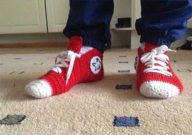 deportivas adultos crochet, deportivas infantiles crochet