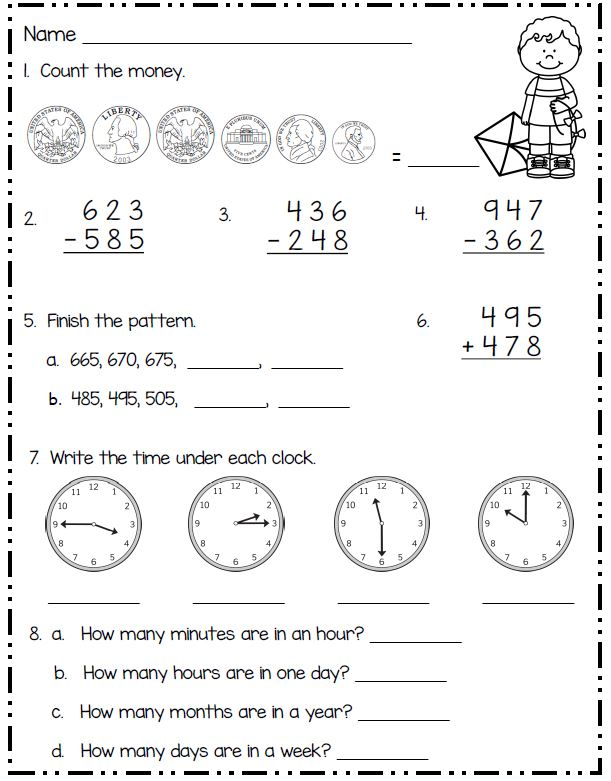 Smiling and Shining in Second Grade: Spring Math for Second Grade