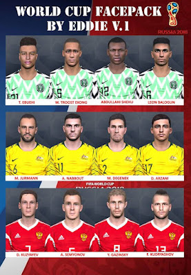 PES 2017 Facepack v1 World Cup 2018 by Eddie Facemaker