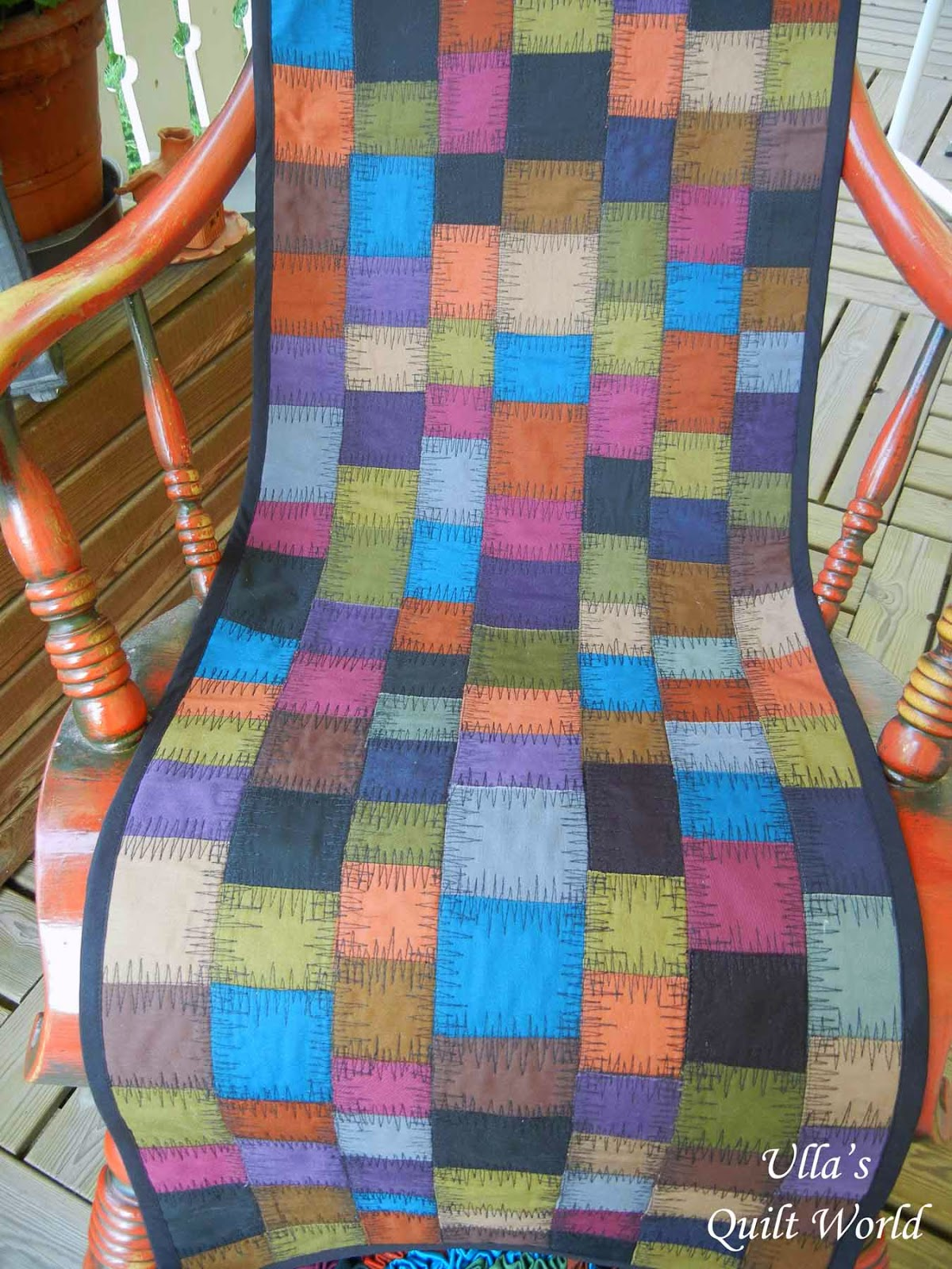 Chair Cover Quilting Casters Walmart Ulla 39s Quilt World Rocking And A Rug 43tutorial