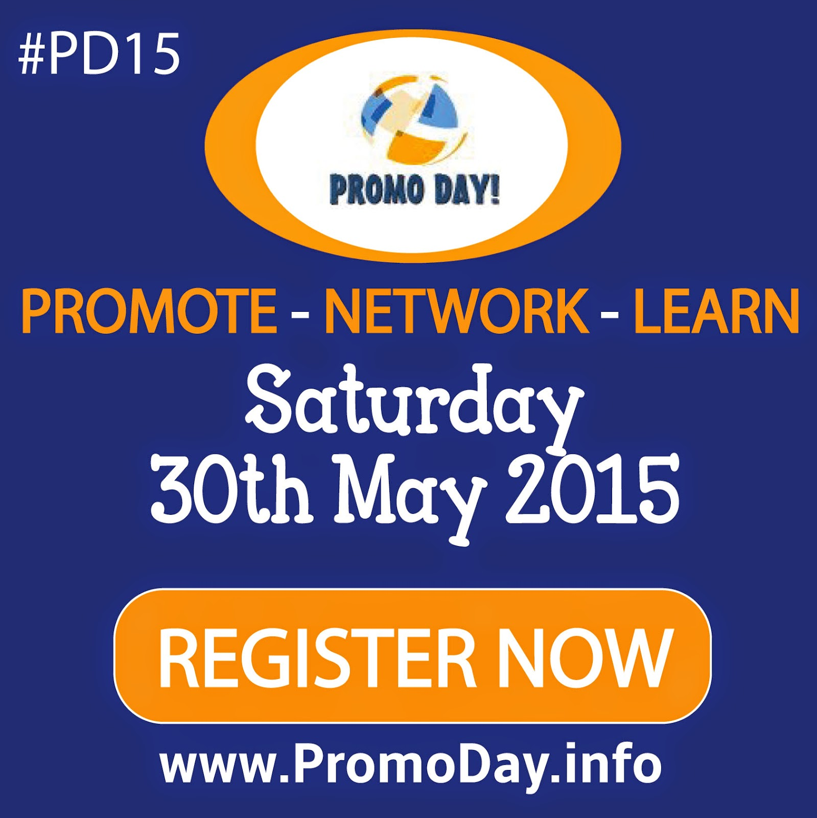 Register now for #PD15 at www.PromoDay.info. A whole day dedicated to promoting, networking, and learning. It's completely free too!