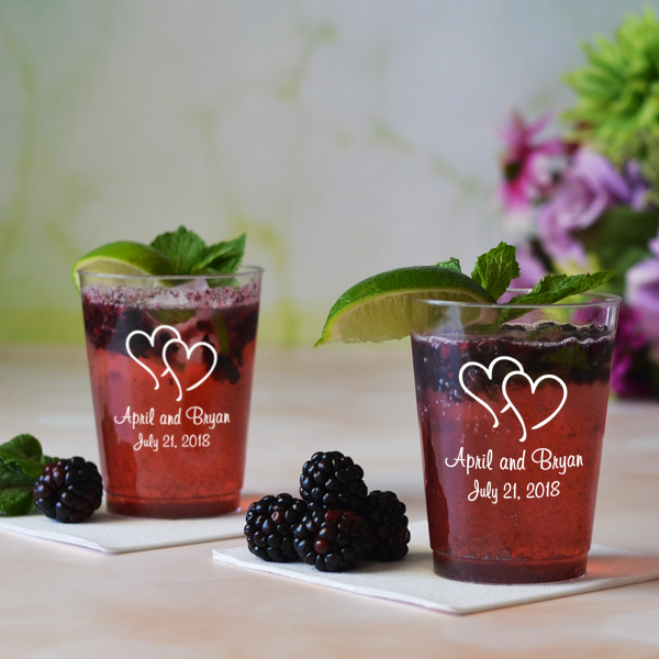 Personalized Plastic Wedding Cup