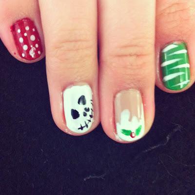 fourzerofive nail art // xmas  new years eve eve