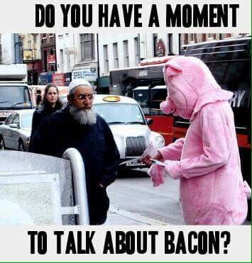 Funny Bacon Evangelism Pig Picture