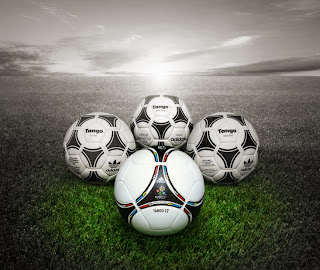 Euro 2012 Cup Match Ball Old Ones and New Design Tango 12 HD Wallpaper
