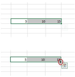 menggunakan fill handle di ms excel
