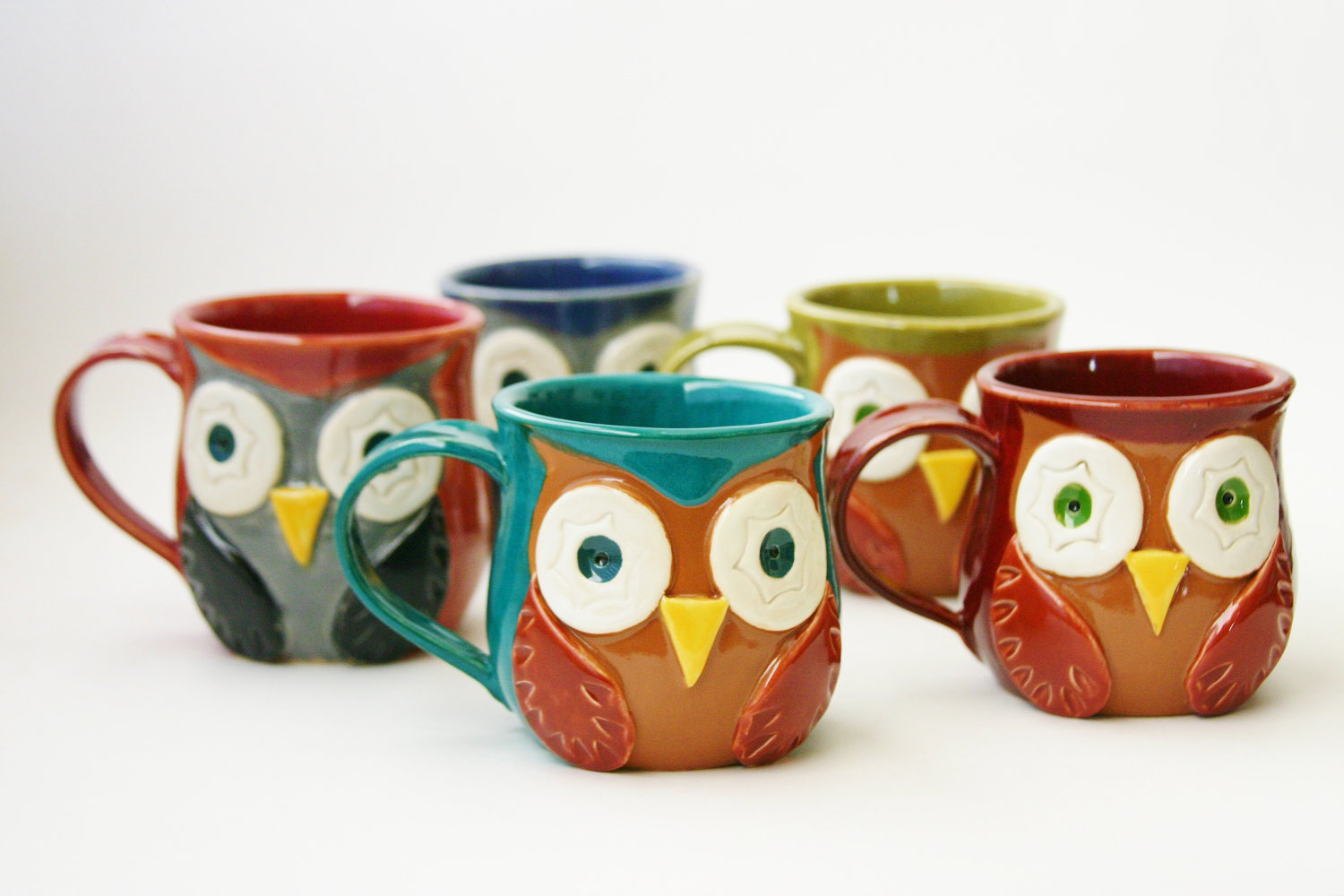 Owl Ceramic Mug Blue Eyed Night Owl Owl Things Considered