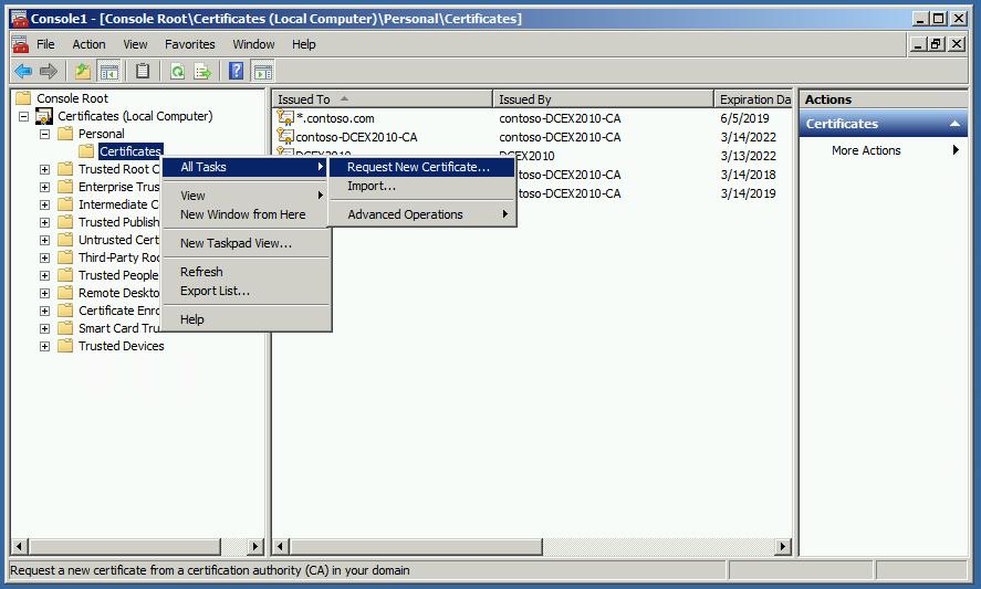 Fix for Certificate Error in Chrome - NET