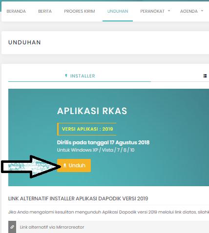 gambar cara download aplikasi rkas dikdasmen kemendikbud versi 2019