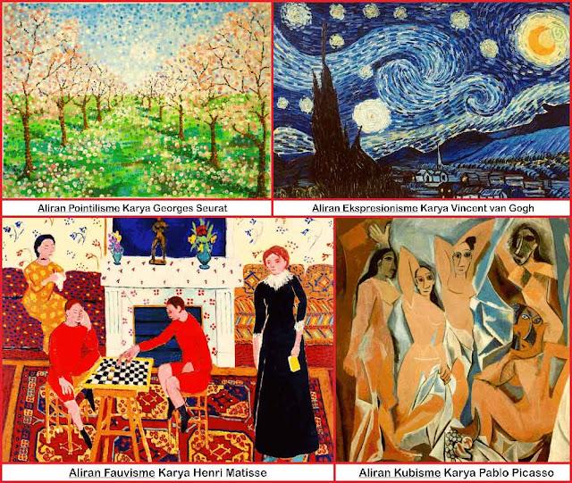 aliran-seni-rupa-fauvisme,-kubisme