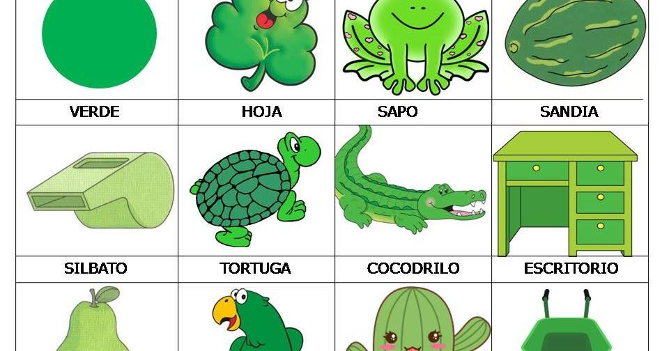 Dibujos Animados De Color Verde
