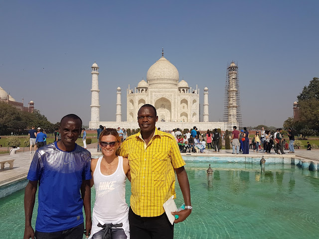 Eliud Kipchoge, winner of ADHM visits Taj Mahal