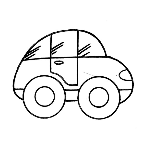 Dibujos Infantiles: Dibujo Infantil Coche