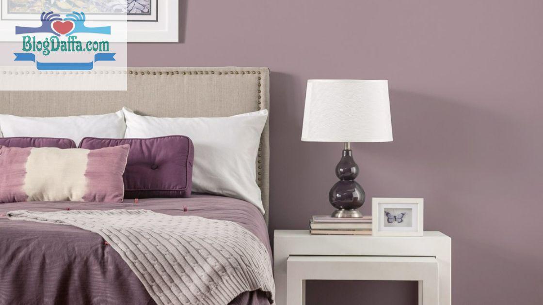 Warna cat kamar tidur mauve