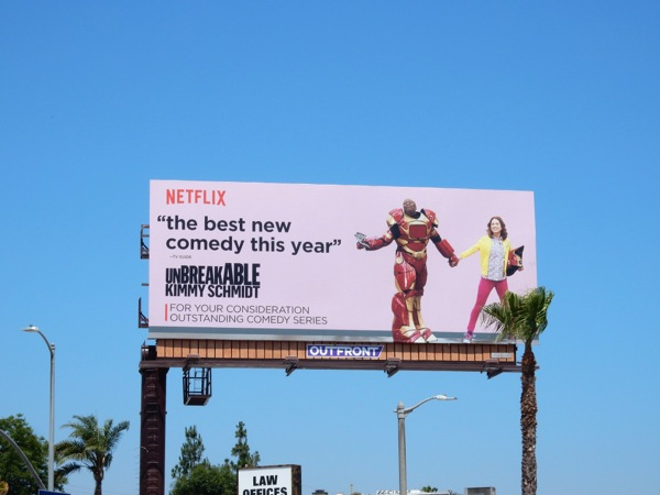 Unbreakable Kimmy Schmidt Netflix Emmy 2015 billboard