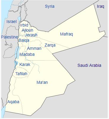 Pembagian wilayah administratif Yordania