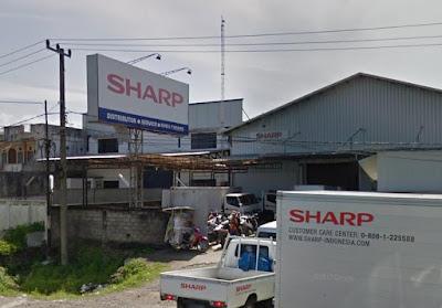 alamat costumer srvis resmi sharp Kota Padang