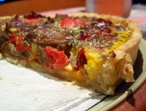 Tarta de verduras con berenjena asada