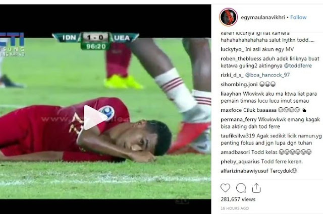 Lucunya Todd Rivaldo Ferre Tertangkap Kamera 'Akting' Mengulur Waktu Saat Melawan Timnas U-19 Uni Emirat Arab