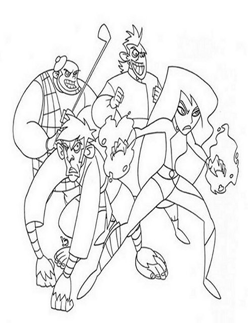 kimpossible coloring pages - photo#25