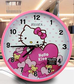 Gambar Jam Dinding Hello Kitty 9