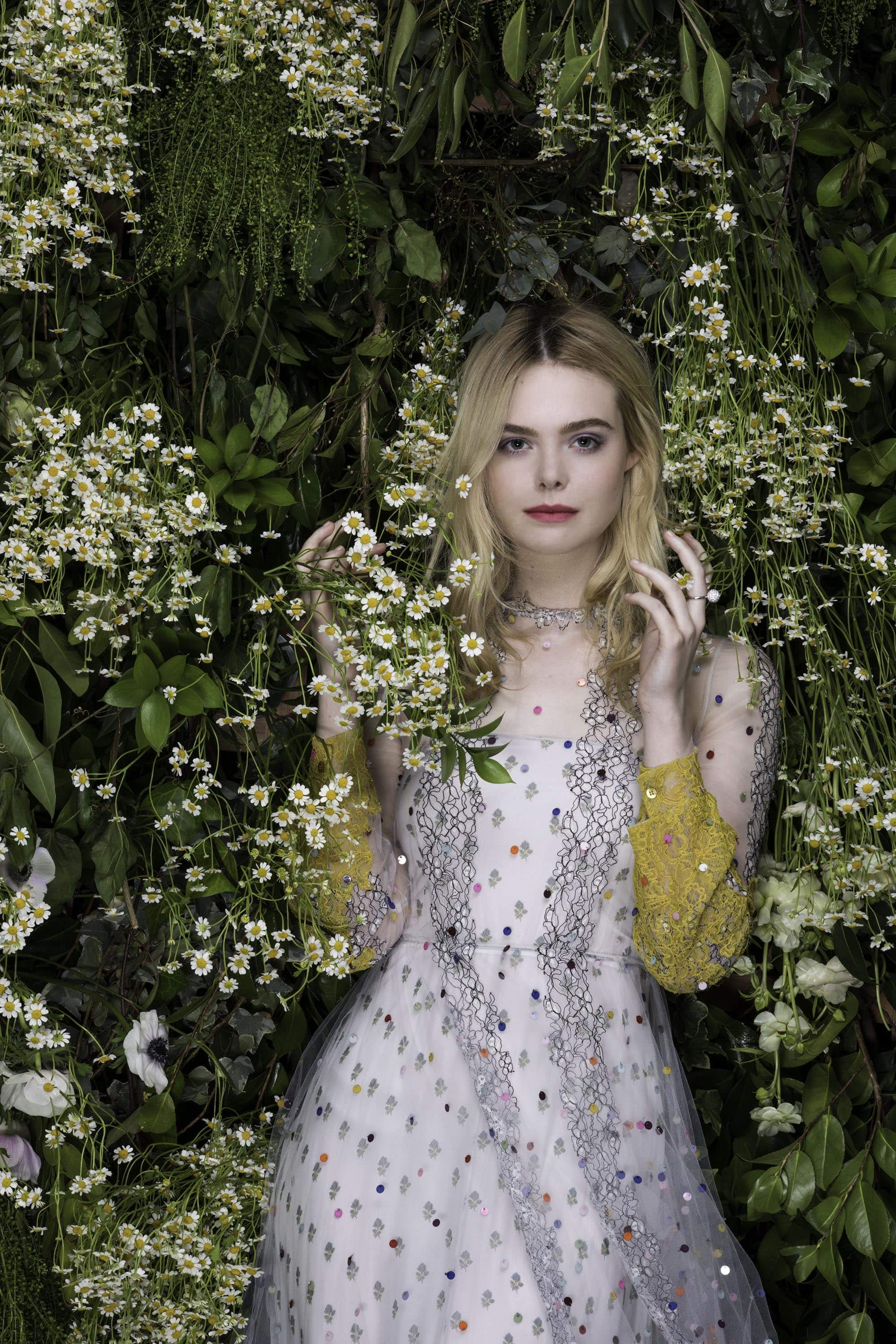 Elle Fanning appeared in the Italian version of the Vanity Fair