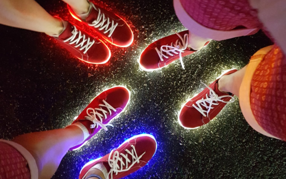 c2564be7a3a4 Team GB athletes  stole the show when they wore flashing deck shoes at the  Rio Olympics closing ceremony. The shoes were charged using a USB port and  ...