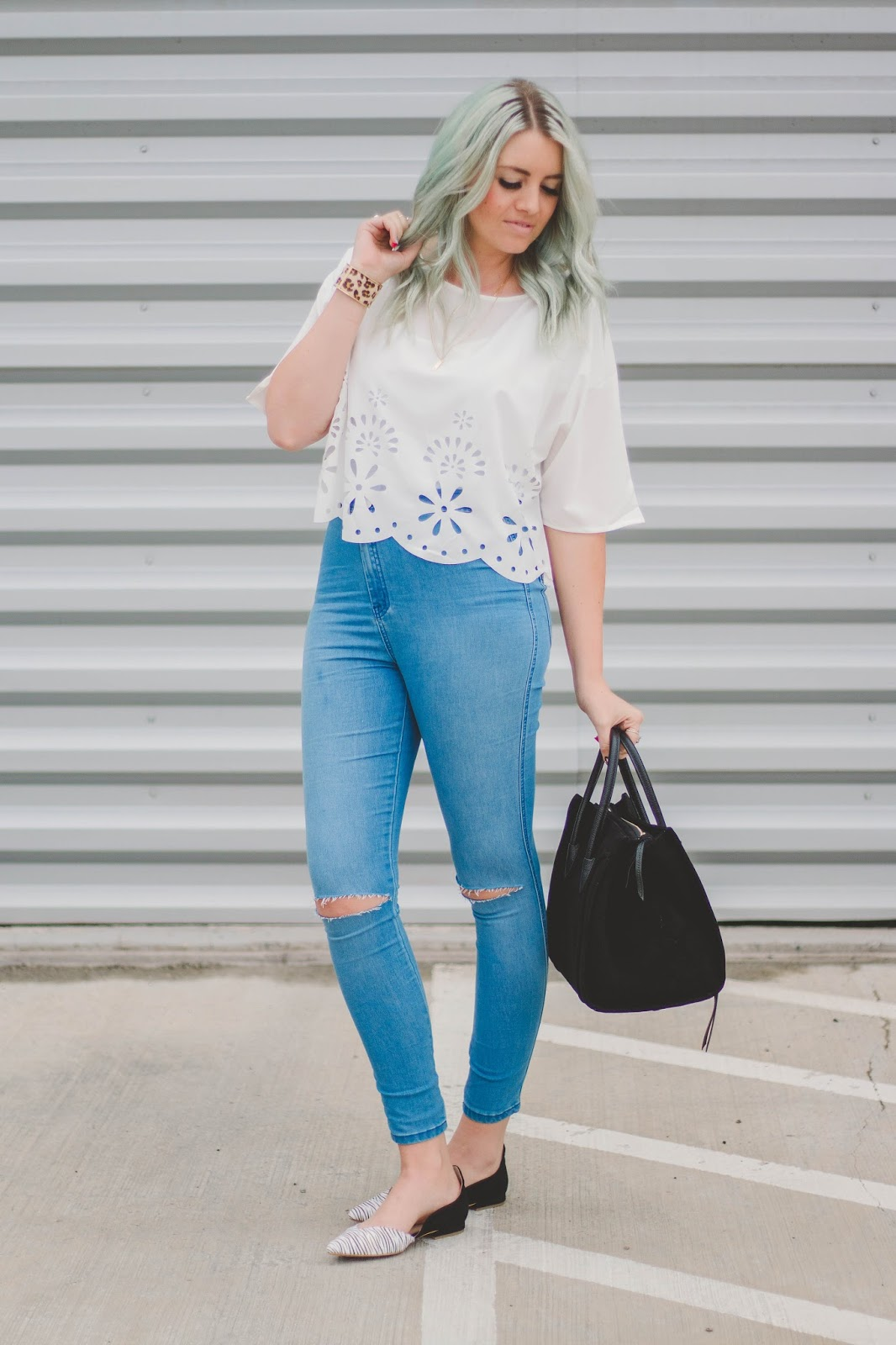Spring Outfit, Ripped Jeans, Utah Fashion Blogger