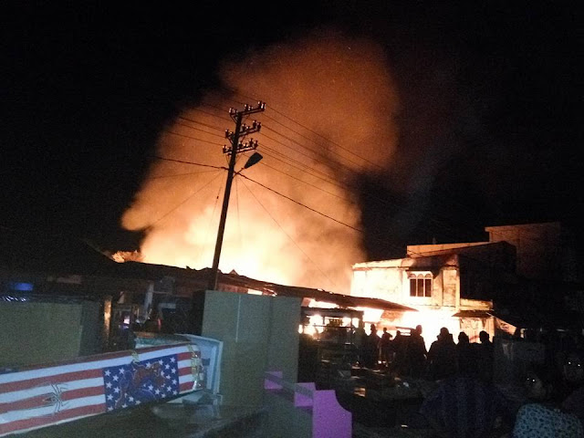 Kebakaran Pasar Di Teunom Aceh Jaya