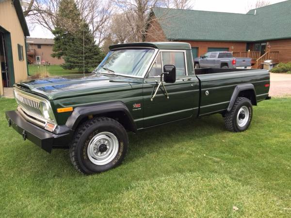 daily turismo mean green and clean 1974 jeep j20 pickup. Black Bedroom Furniture Sets. Home Design Ideas