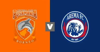 Jadwal Liga 1 Senin 9 April 2018 - Borneo FC vs Arema FC